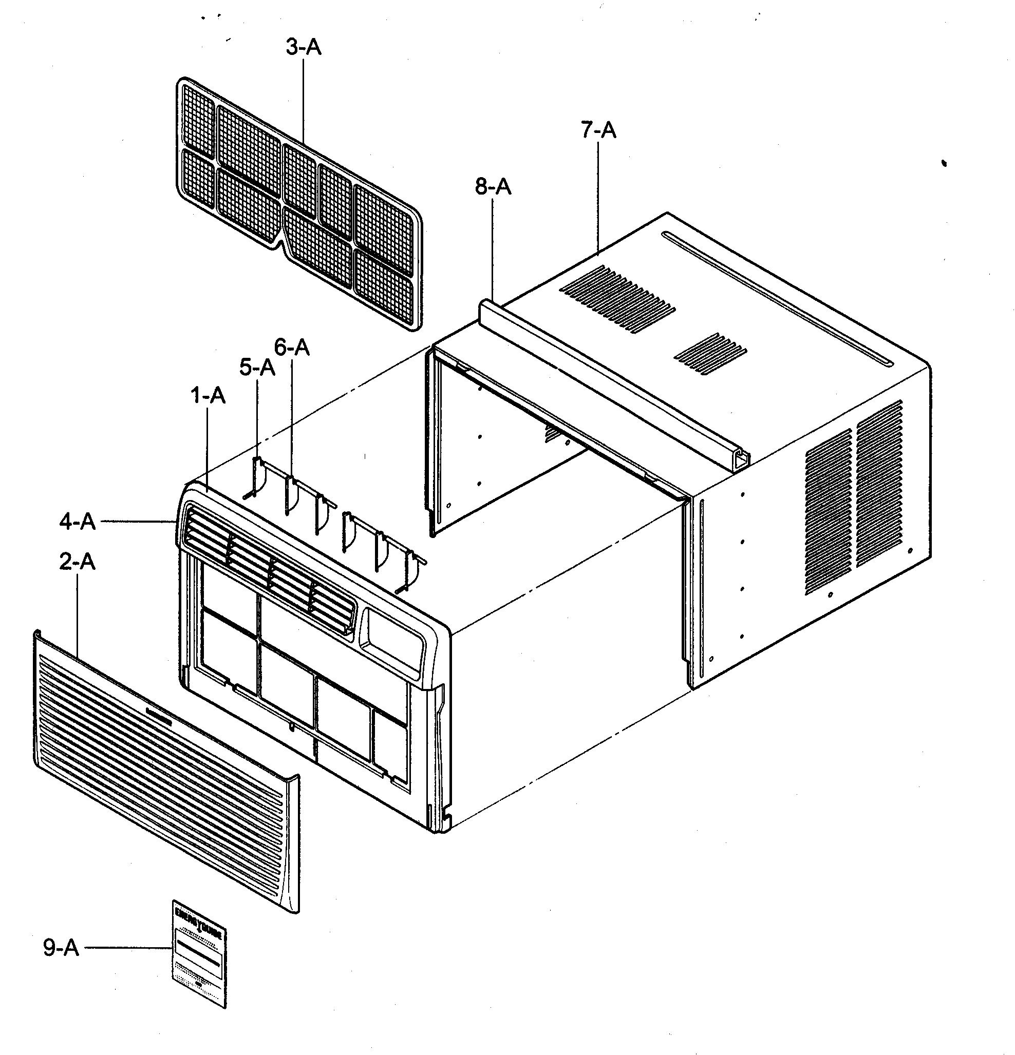 KENMORE Air Conditioner Control box assy Parts Model 58074082400  #393939