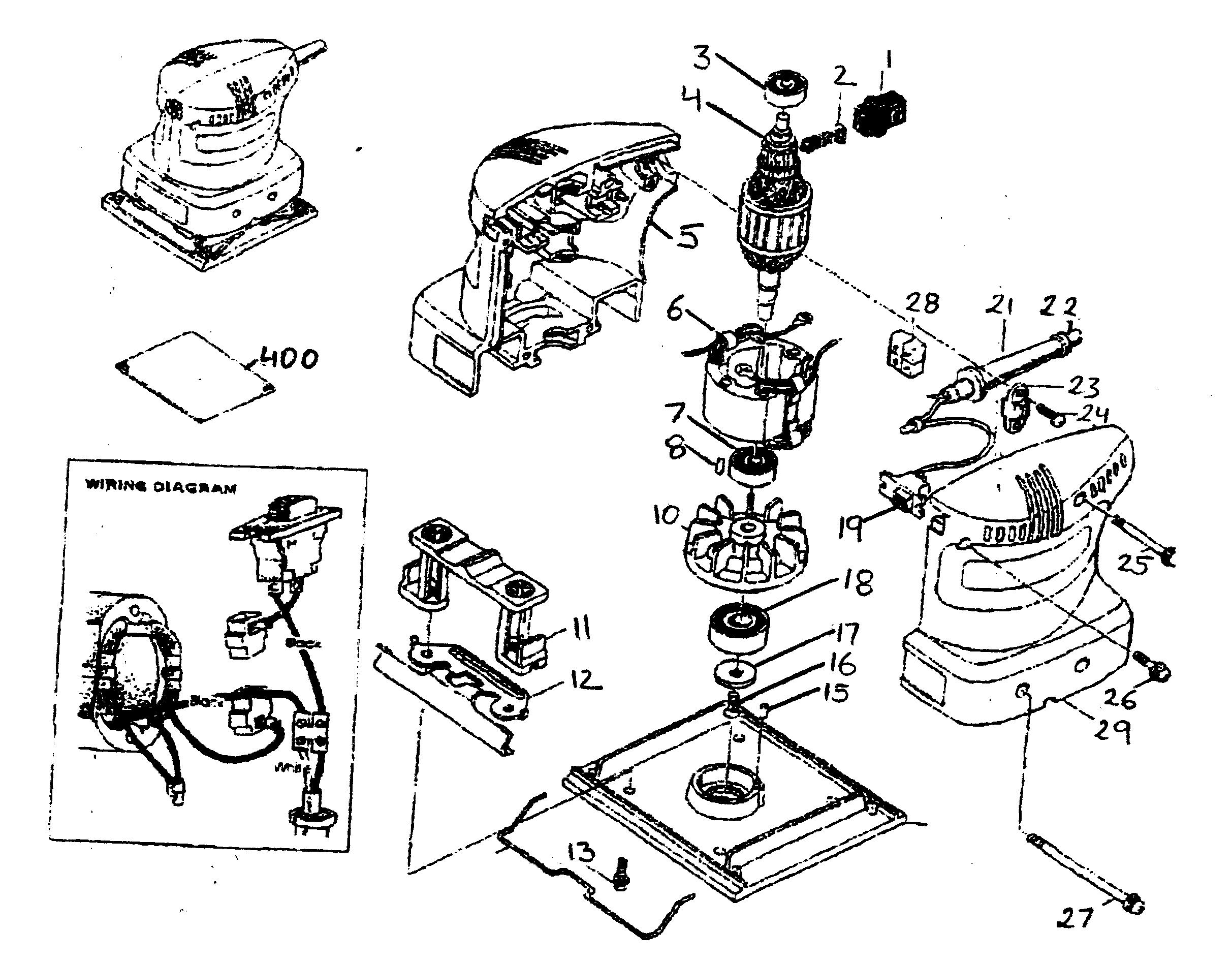 Makita Orbital Sander Wiring Diagram on