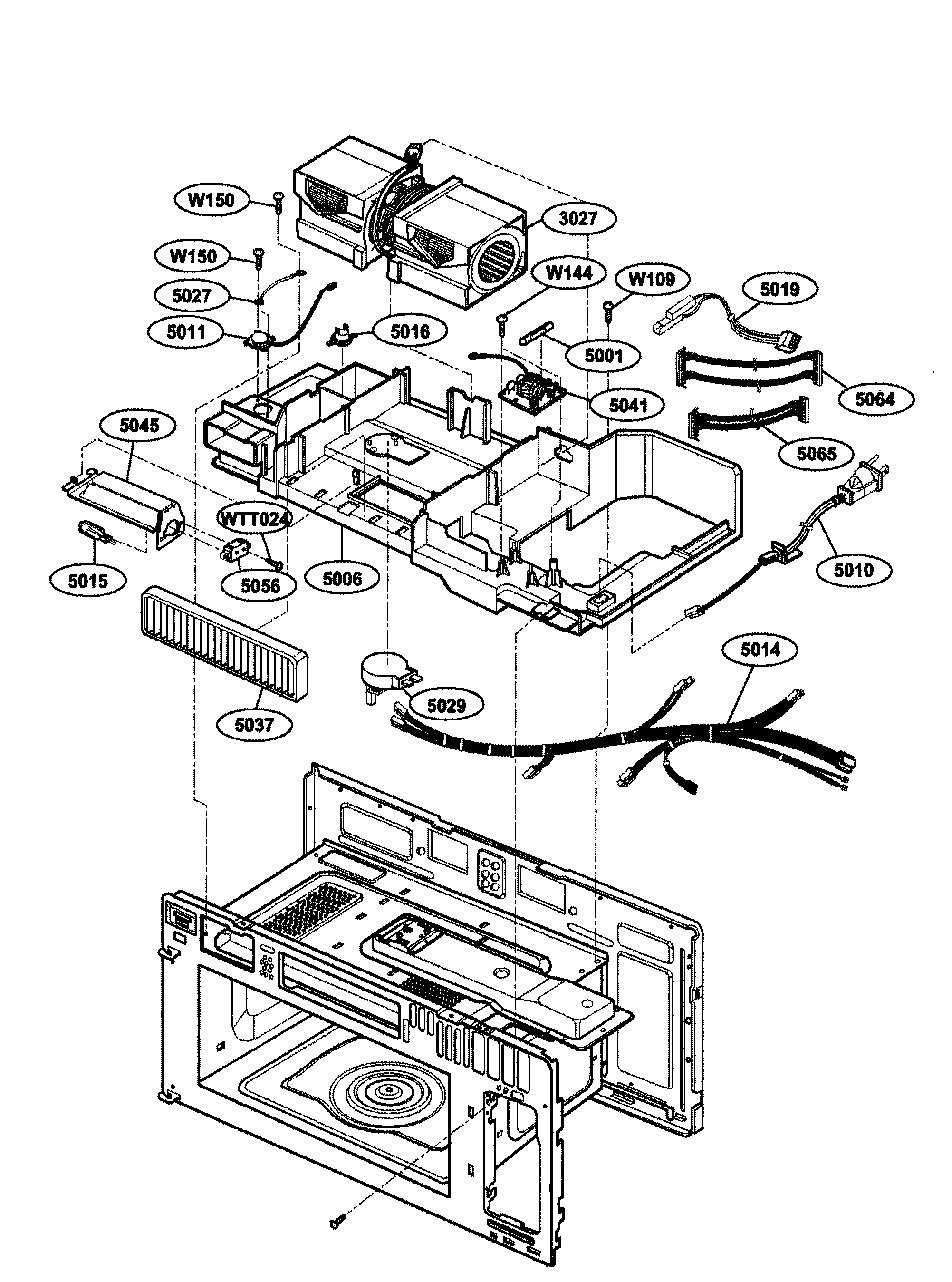 Kenmore 72164663300 interior parts 2 diagram