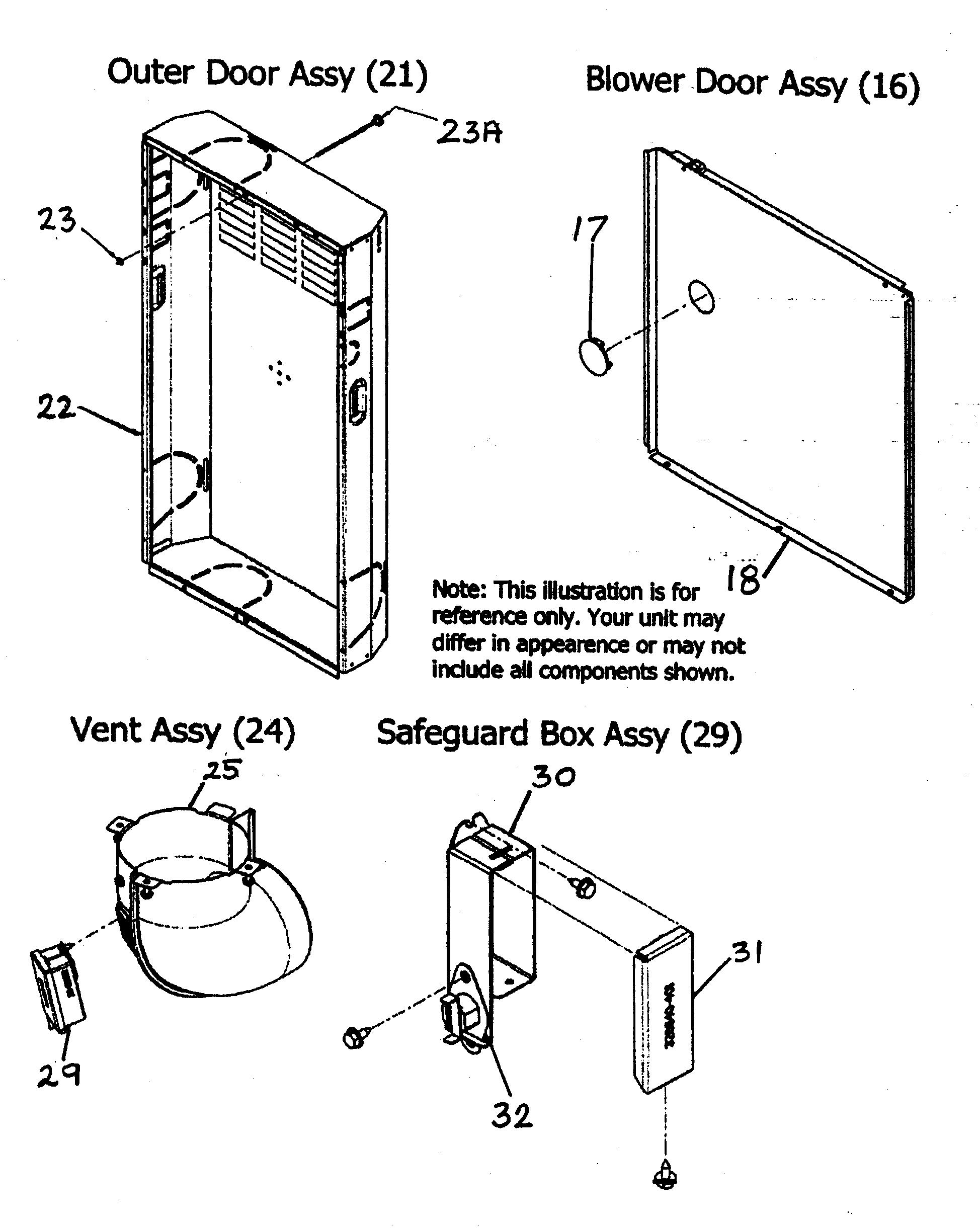 Payne  Furnace  Outer door/vent assy