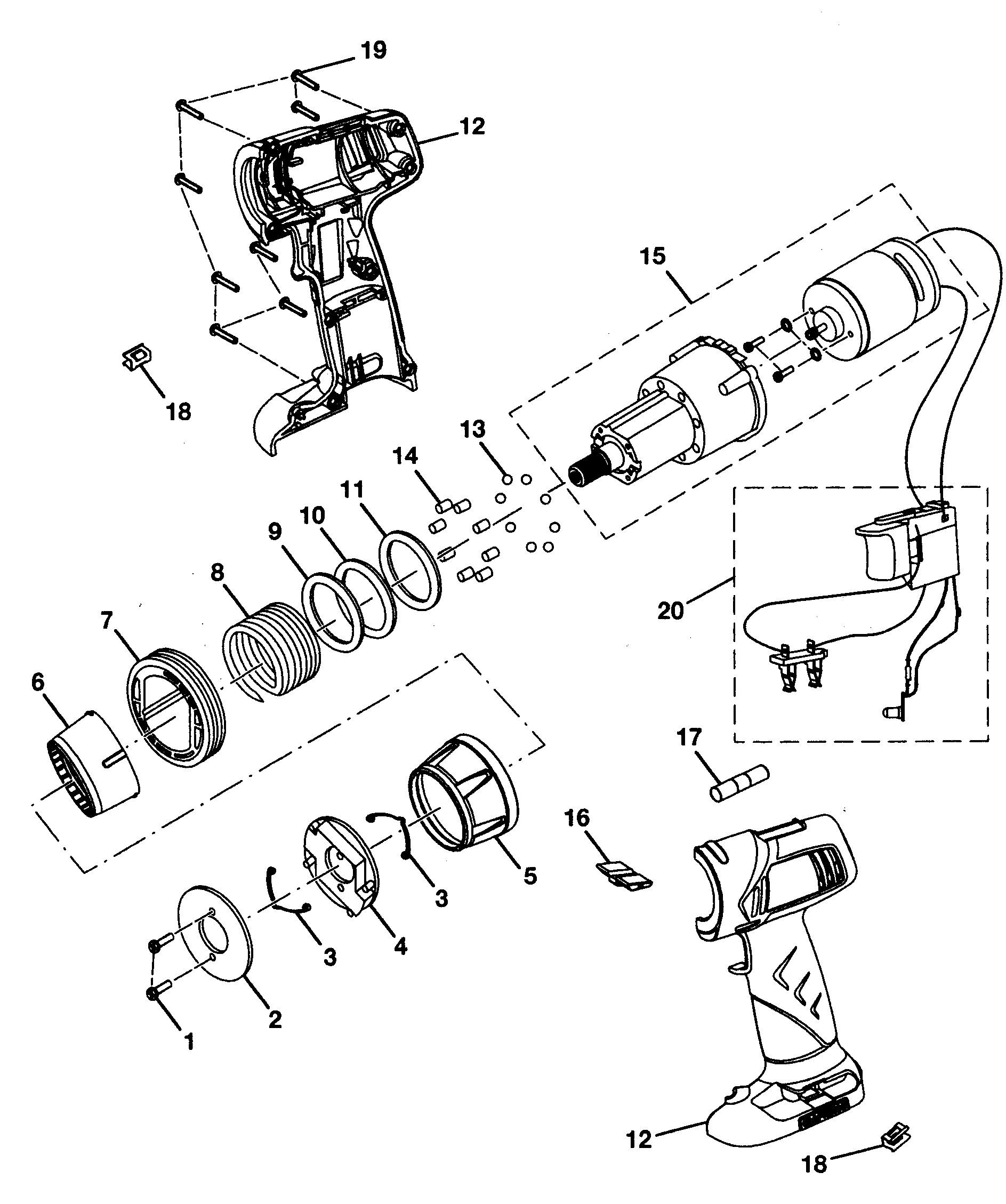Craftsman 315115340 motor assy diagram