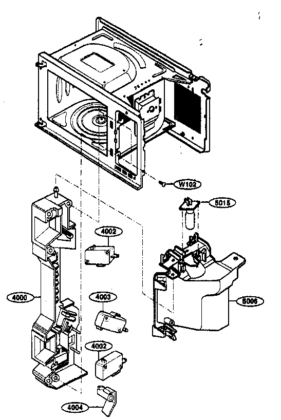 Kenmore 72163299303 latch board parts diagram
