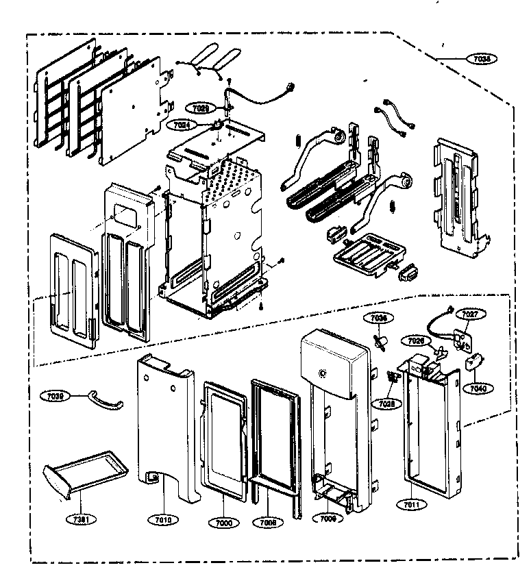 Kenmore 72163299303 toaster parts diagram