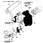 Sony DCR-DVD205 bt cabinet block diagram
