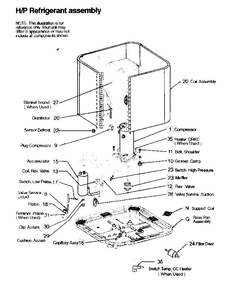 icp split system parts