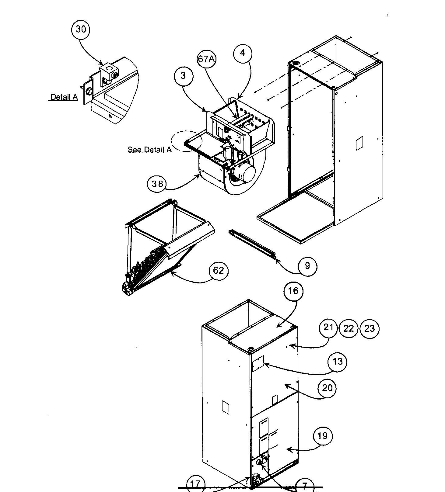 Carrier  Air Handler  Cabinet parts