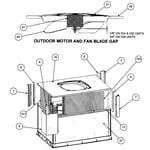 Carrier 48DUN030040300 outdoor motor/fan blade gap diagram