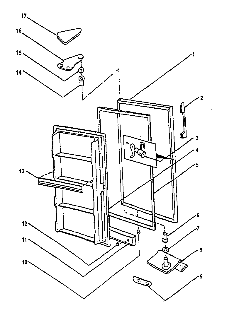 Wc Wood  Freezer  Door/components
