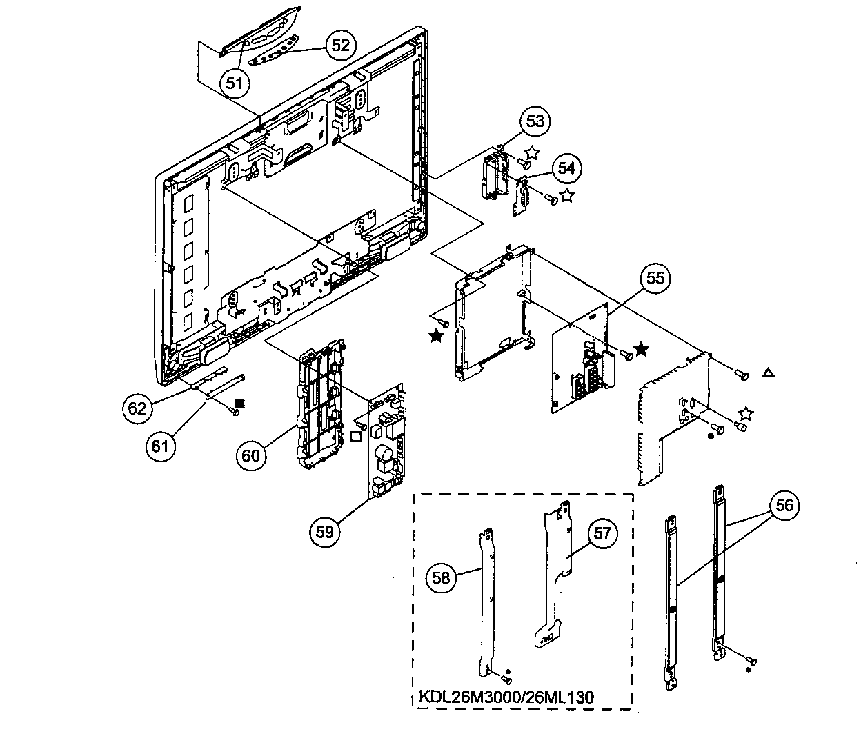 Sony KDL-32M3000 chassis diagram