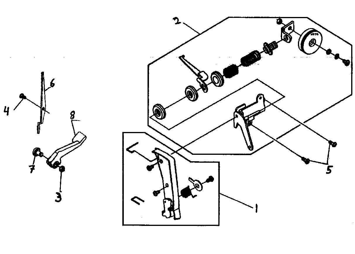 Tension Assy Diagram Amp Parts List For Model 7436 Singer