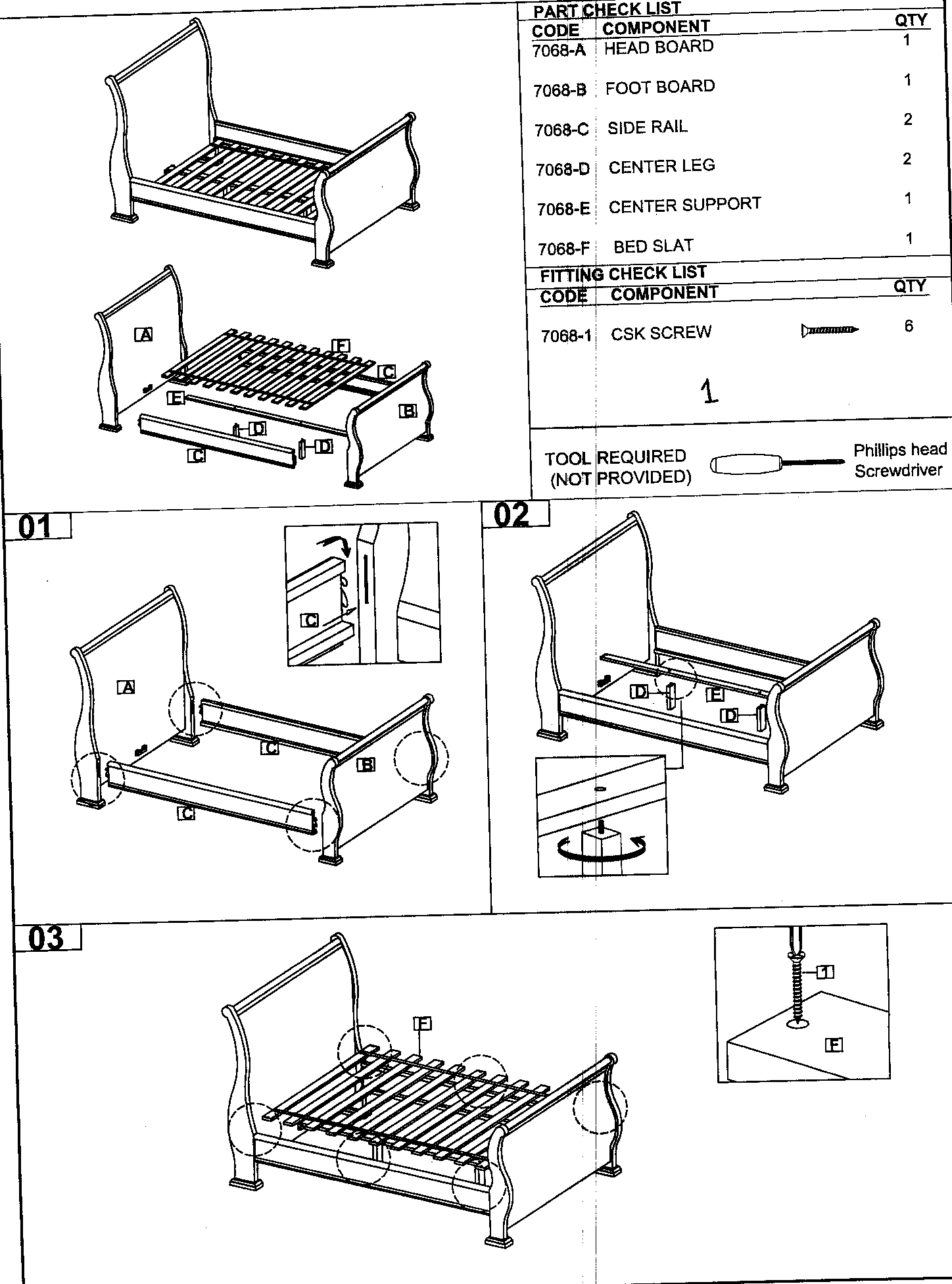 Land's End 10486 bed diagram