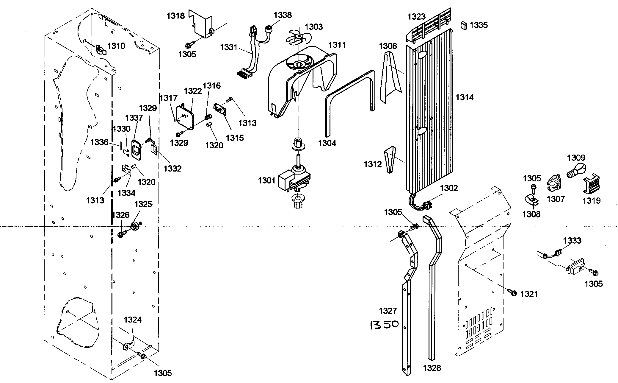 Thermador KBUDT4265E/01 duct assy diagram