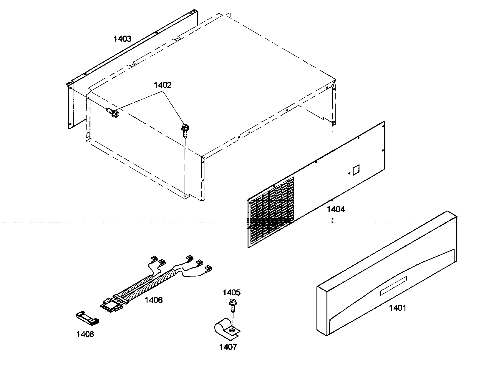 Thermador KBUDT4265E/01 top grille diagram