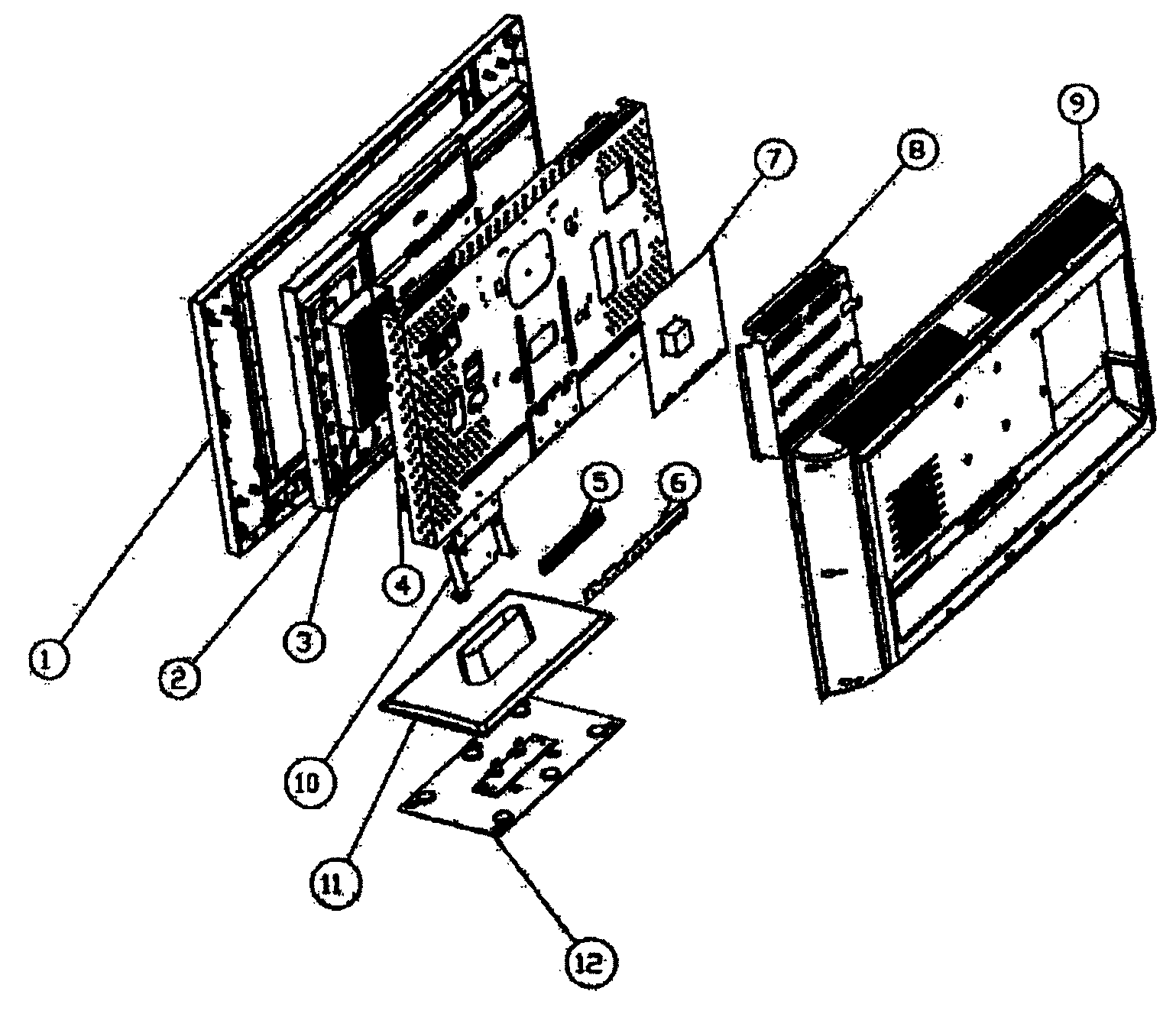Olevia 226-S12 cabinet parts diagram