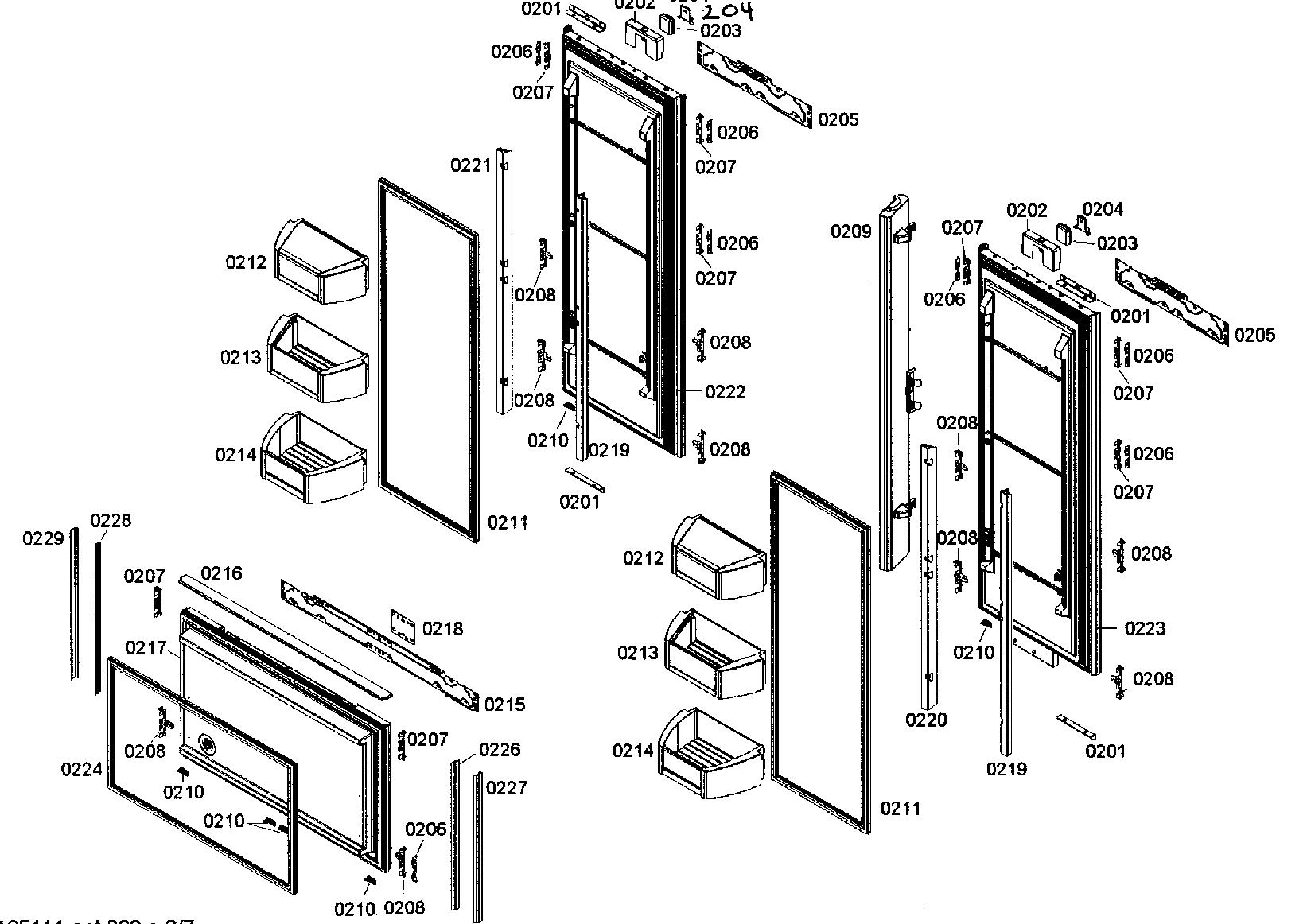 Bosch  Refrigerator  Doors assy