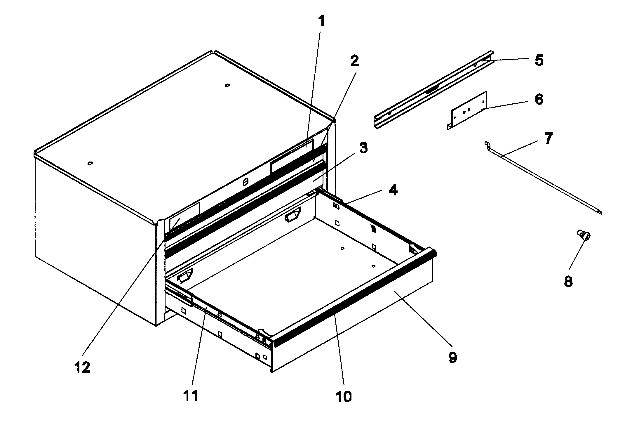 Craftsman 706825380 tool box diagram