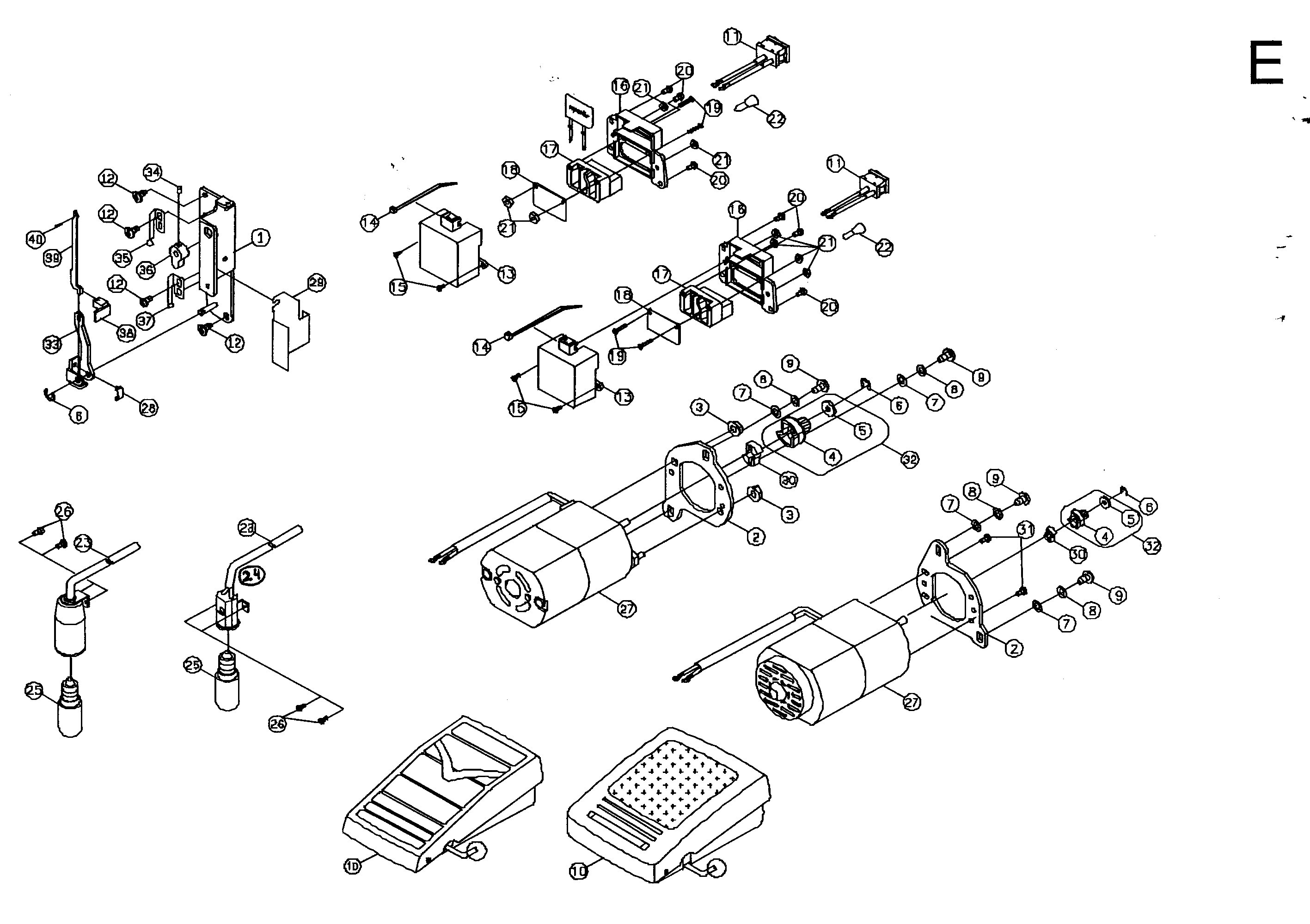Singer  Sewing Machine  Motor assy