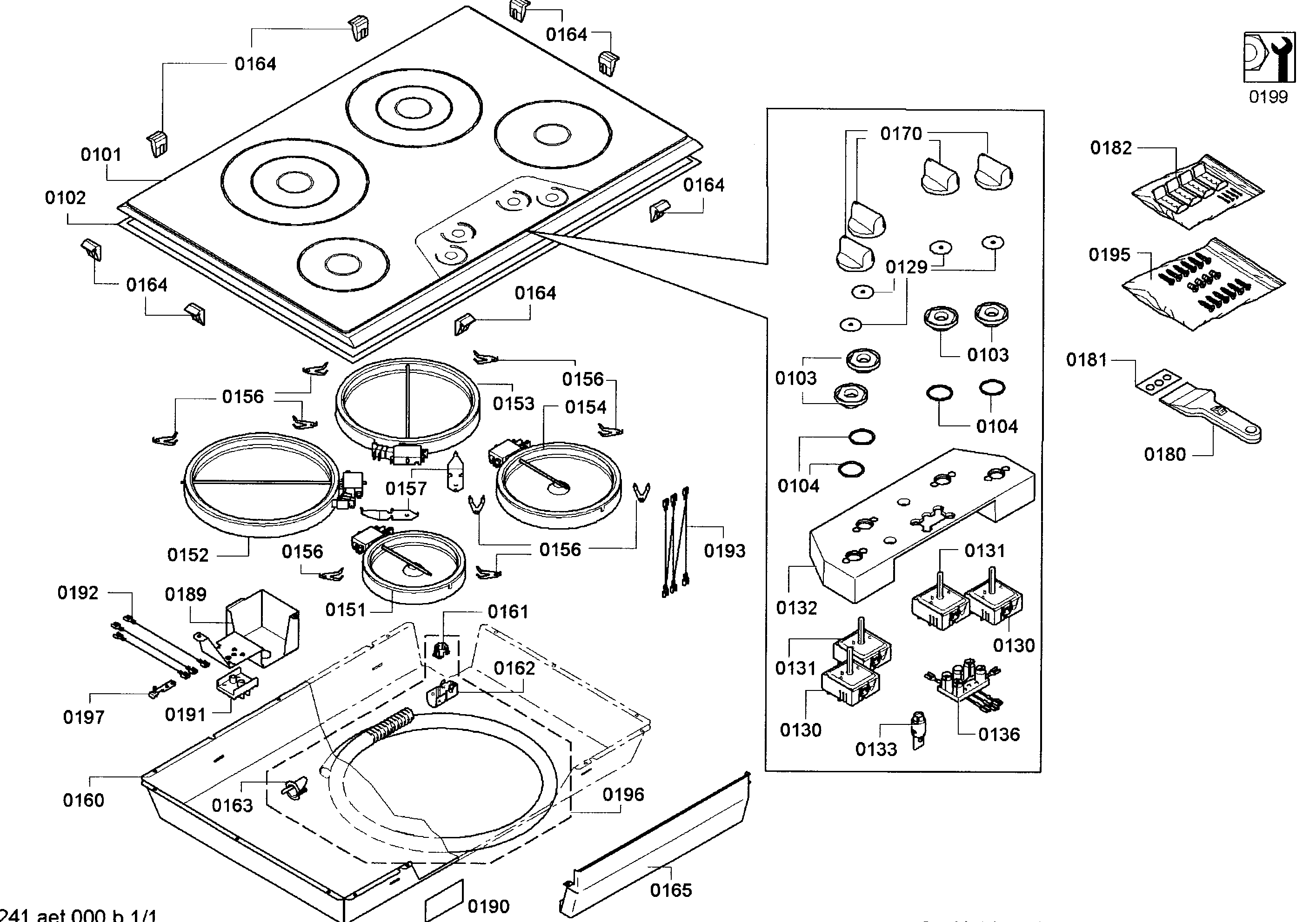 Thermador  Cooktop  Cabinet parts