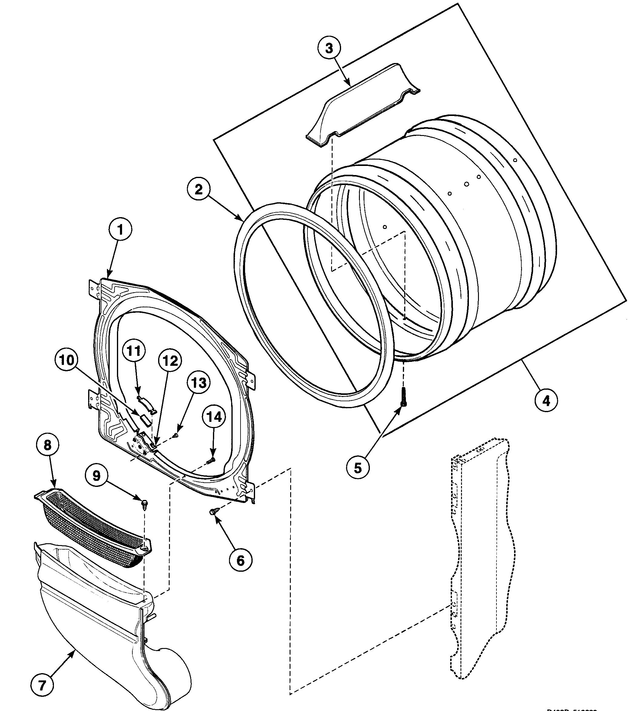Speed Queen  Dryer   Parts