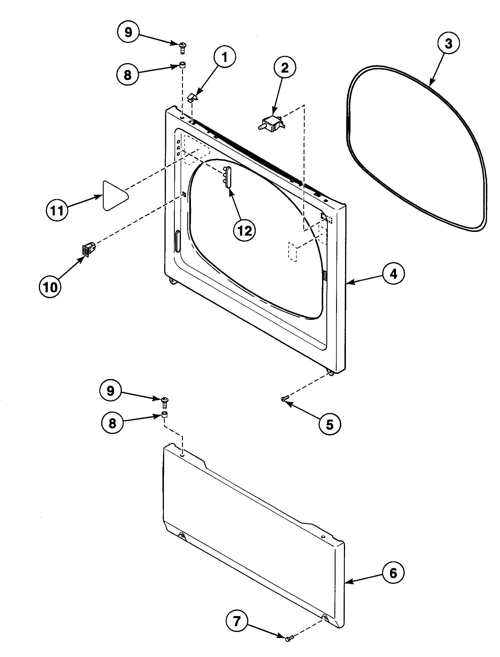 Speed Queen  Dryer  Front panel