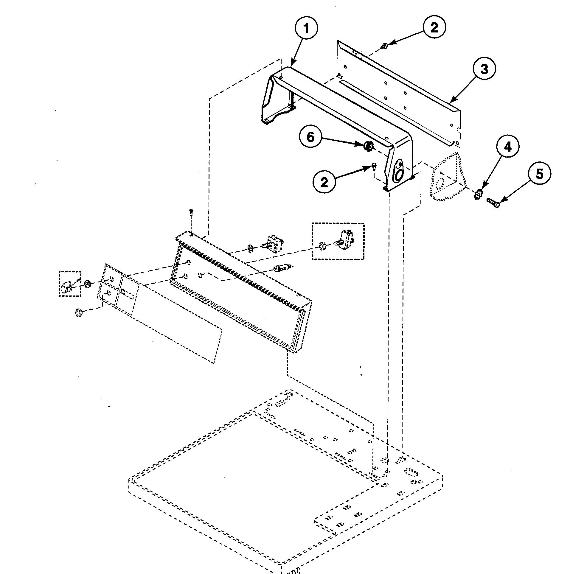 Speed Queen  Dryer  Control hood