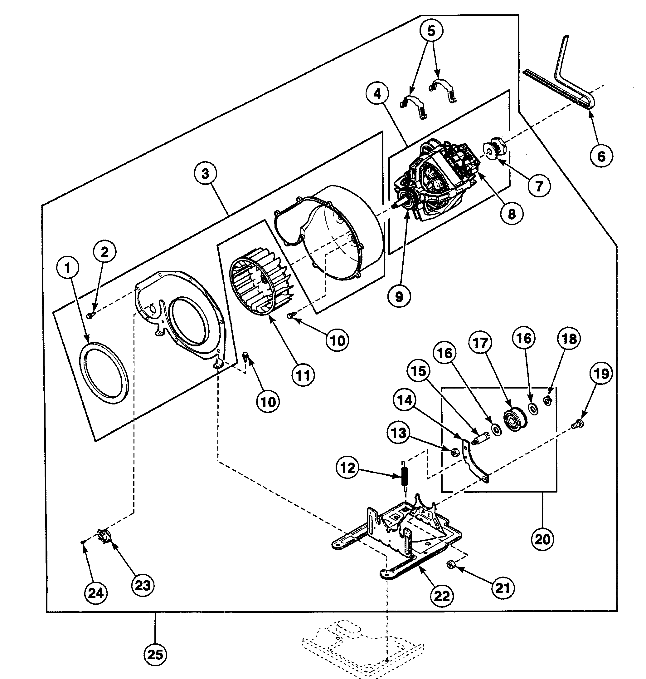 Speed Queen  Dryer  Motor assy