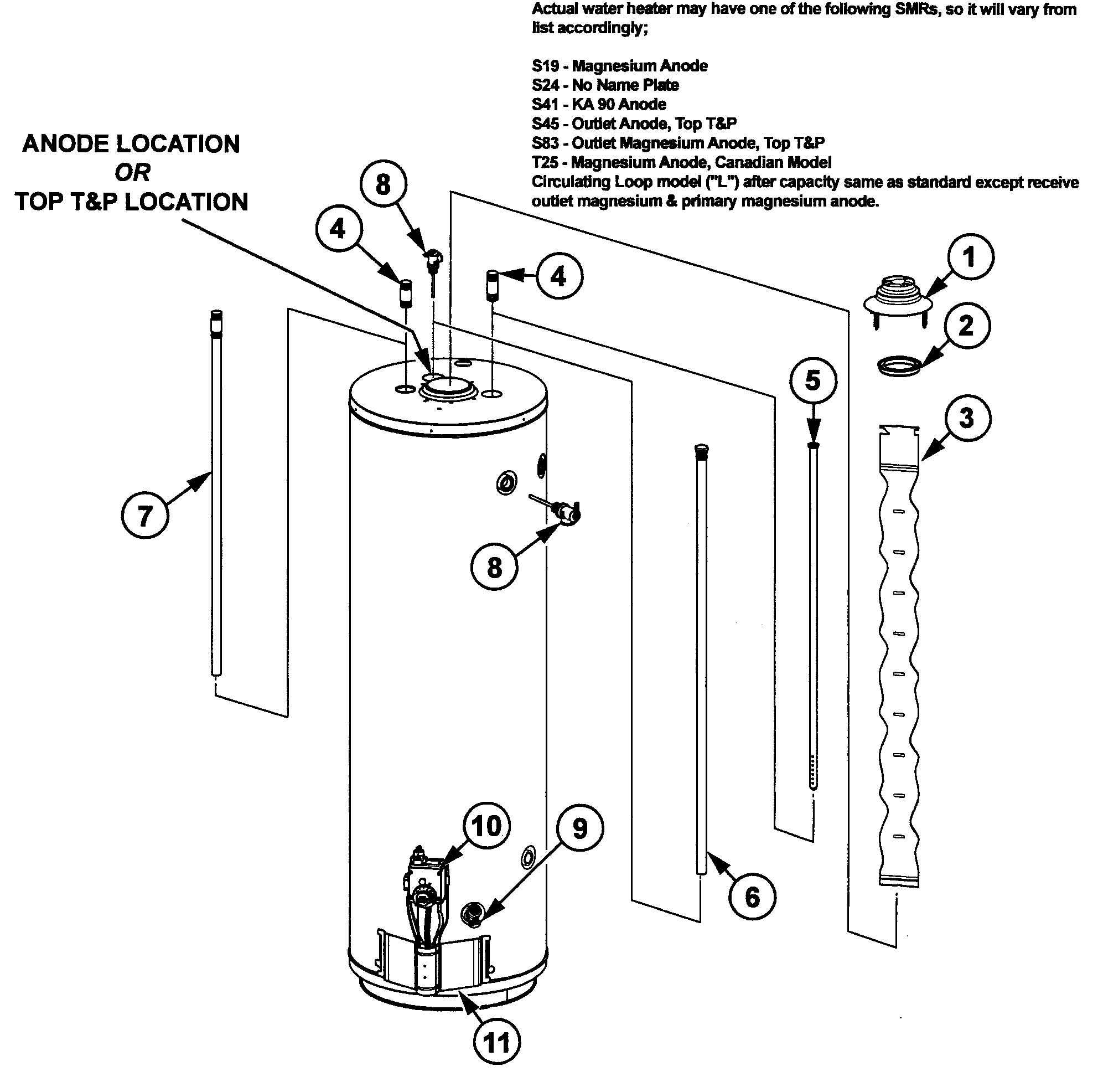 Ao Smith Model Xcv40 200 Water Heater Gas Genuine Parts