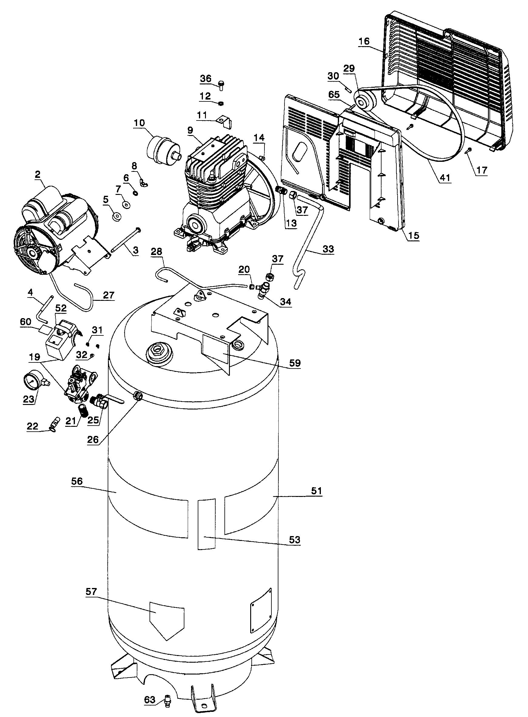craftsman air compressor diagram