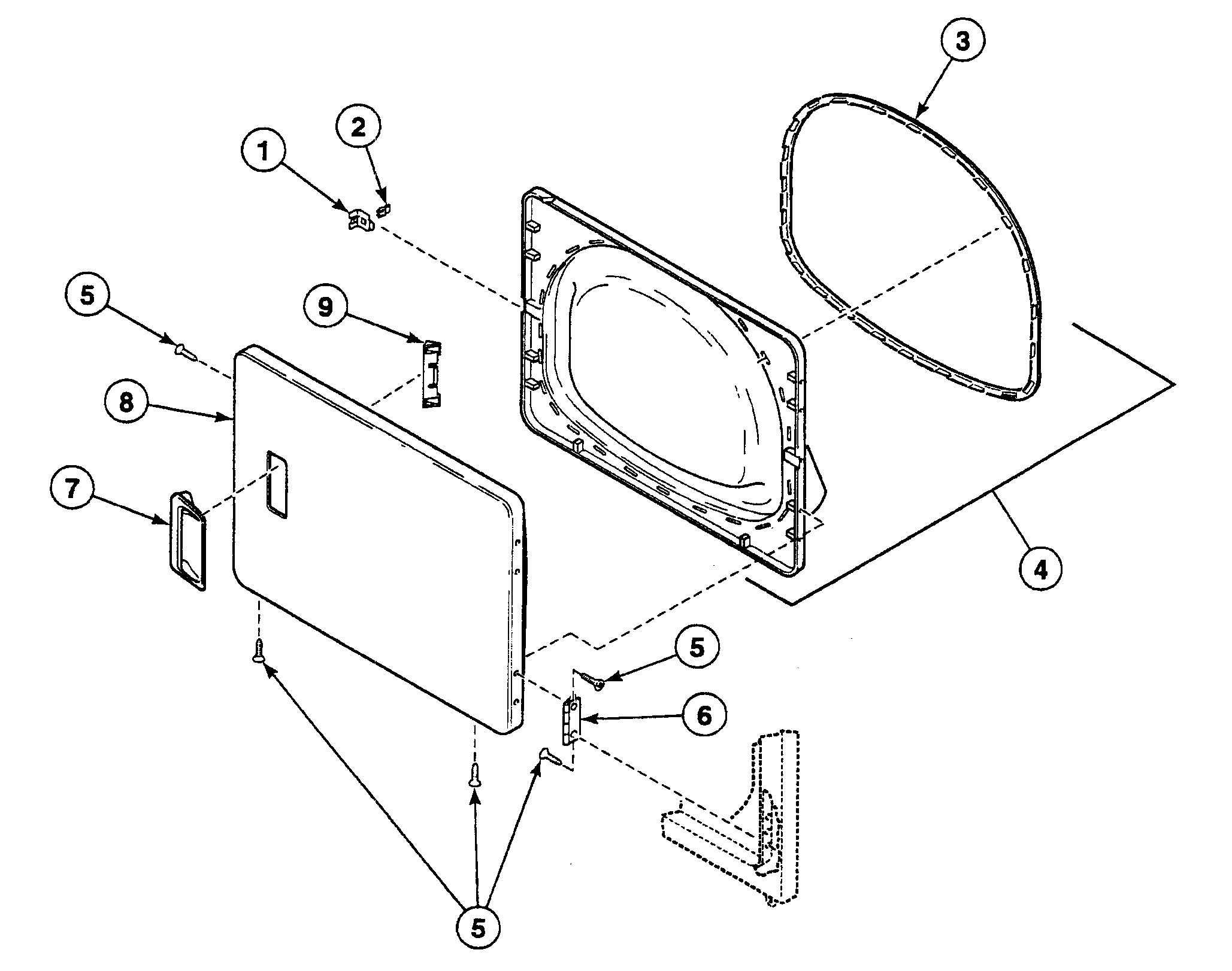 Speed Queen  Dryer  Door assy