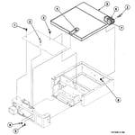 Speed Queen SSGF19QJ cabinet top diagram