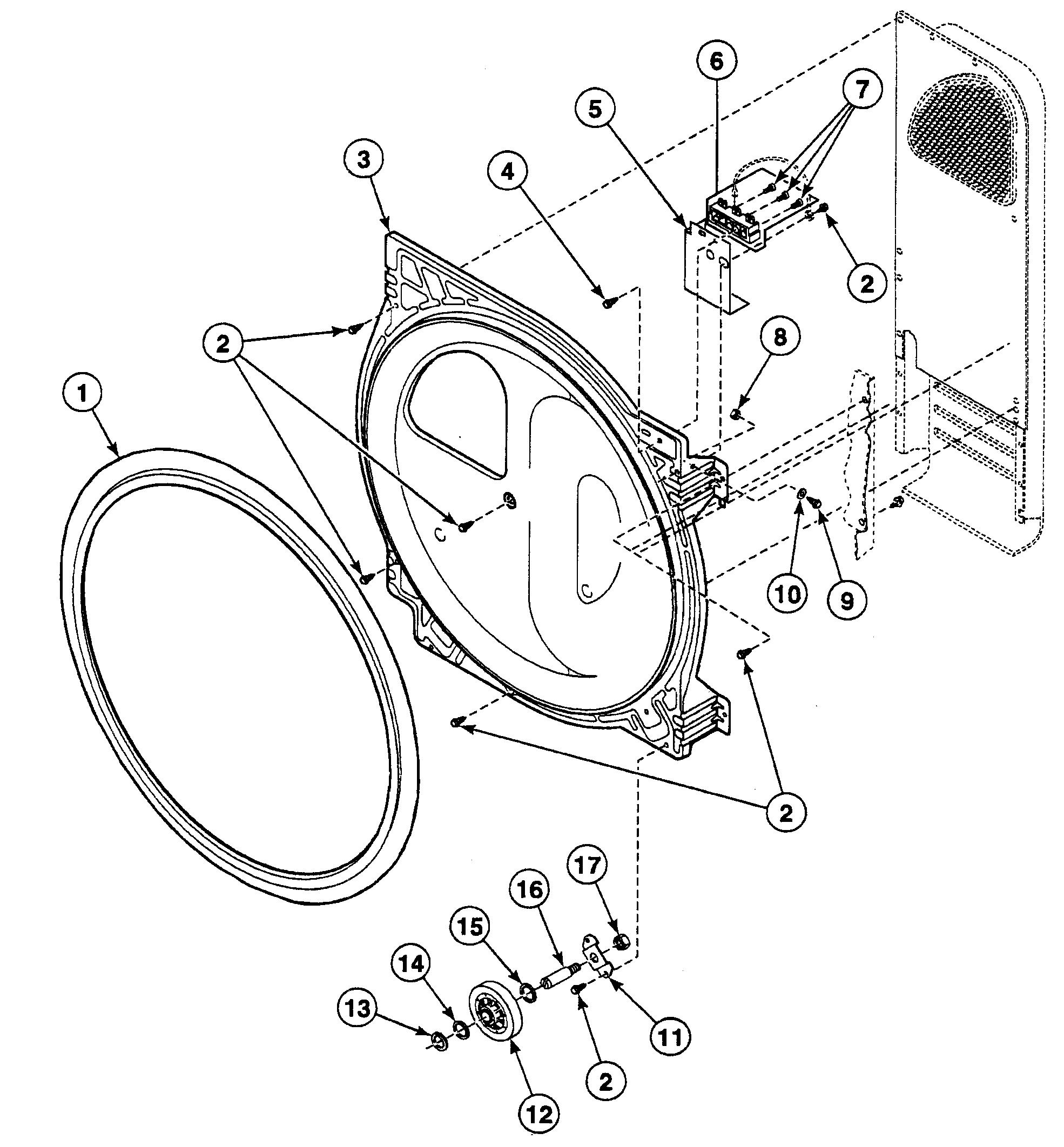 Speed Queen  Dryer  Roller assy