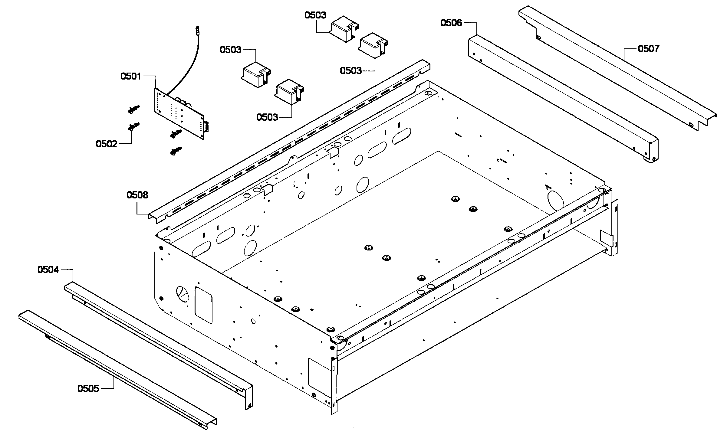 Thermador PCG364GD-02 cabinet diagram