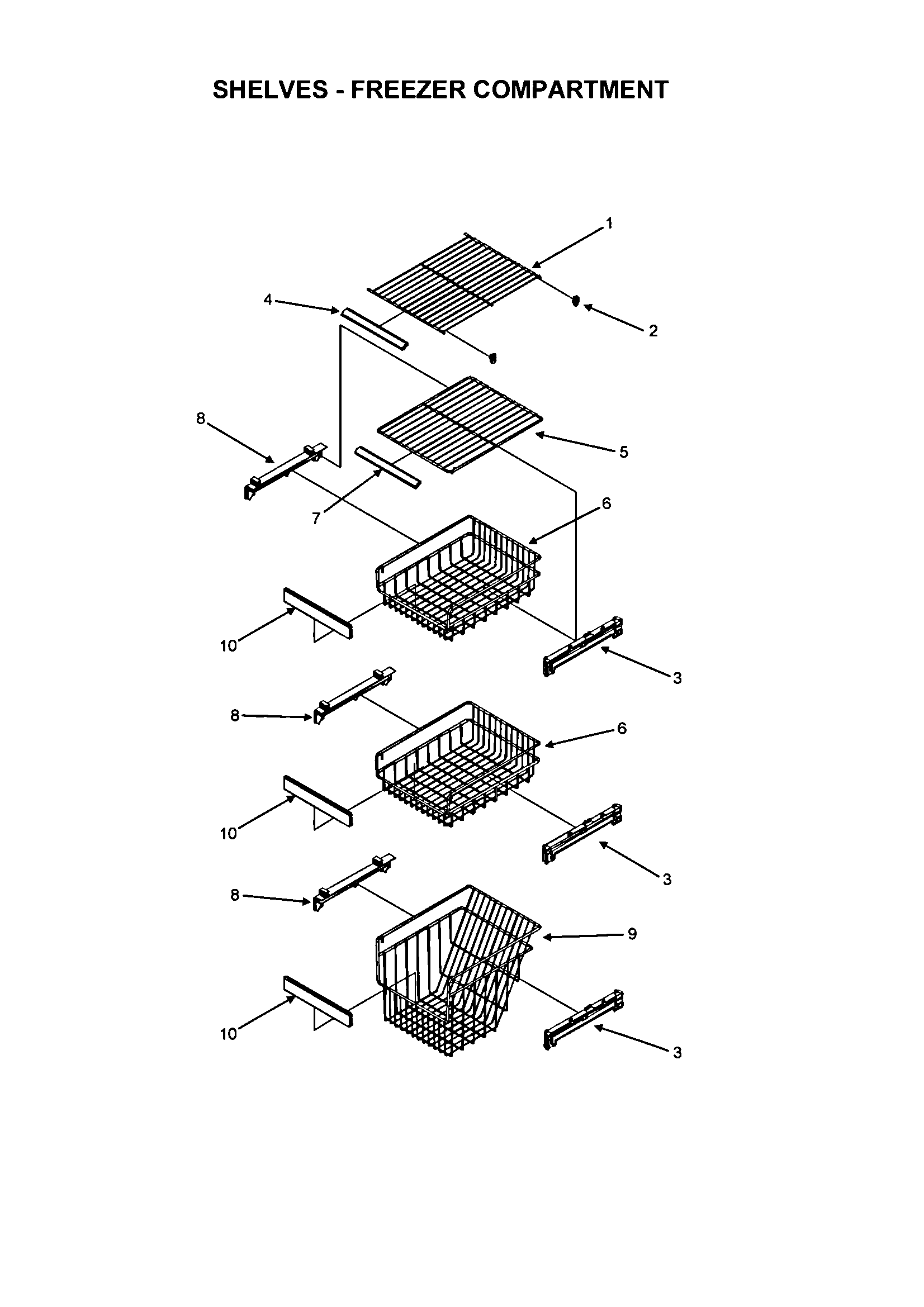 Fisher & Paykel RX256DT7X1-22600-A shelvs-fr diagram