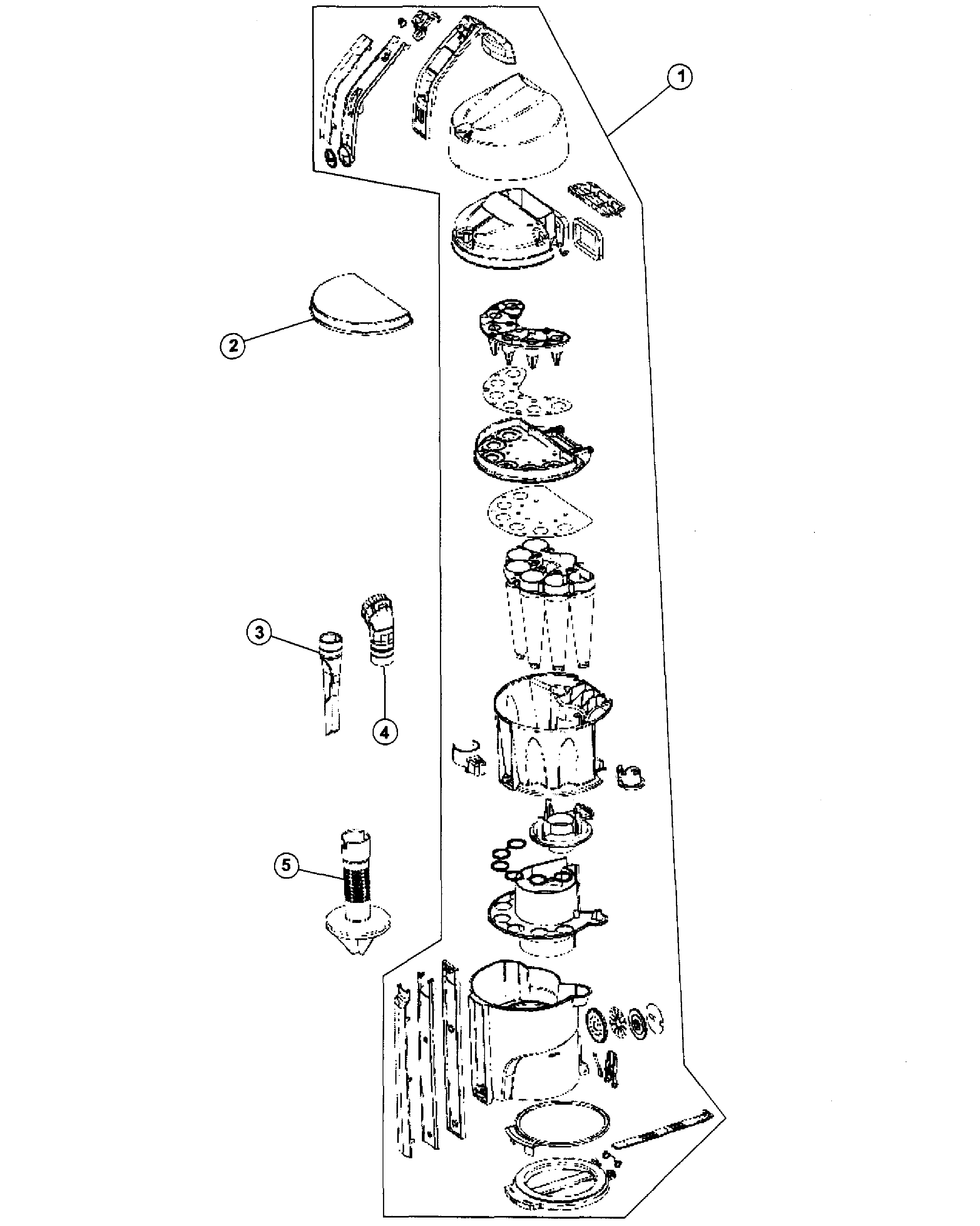 Hoover UH70015 dirt cup diagram