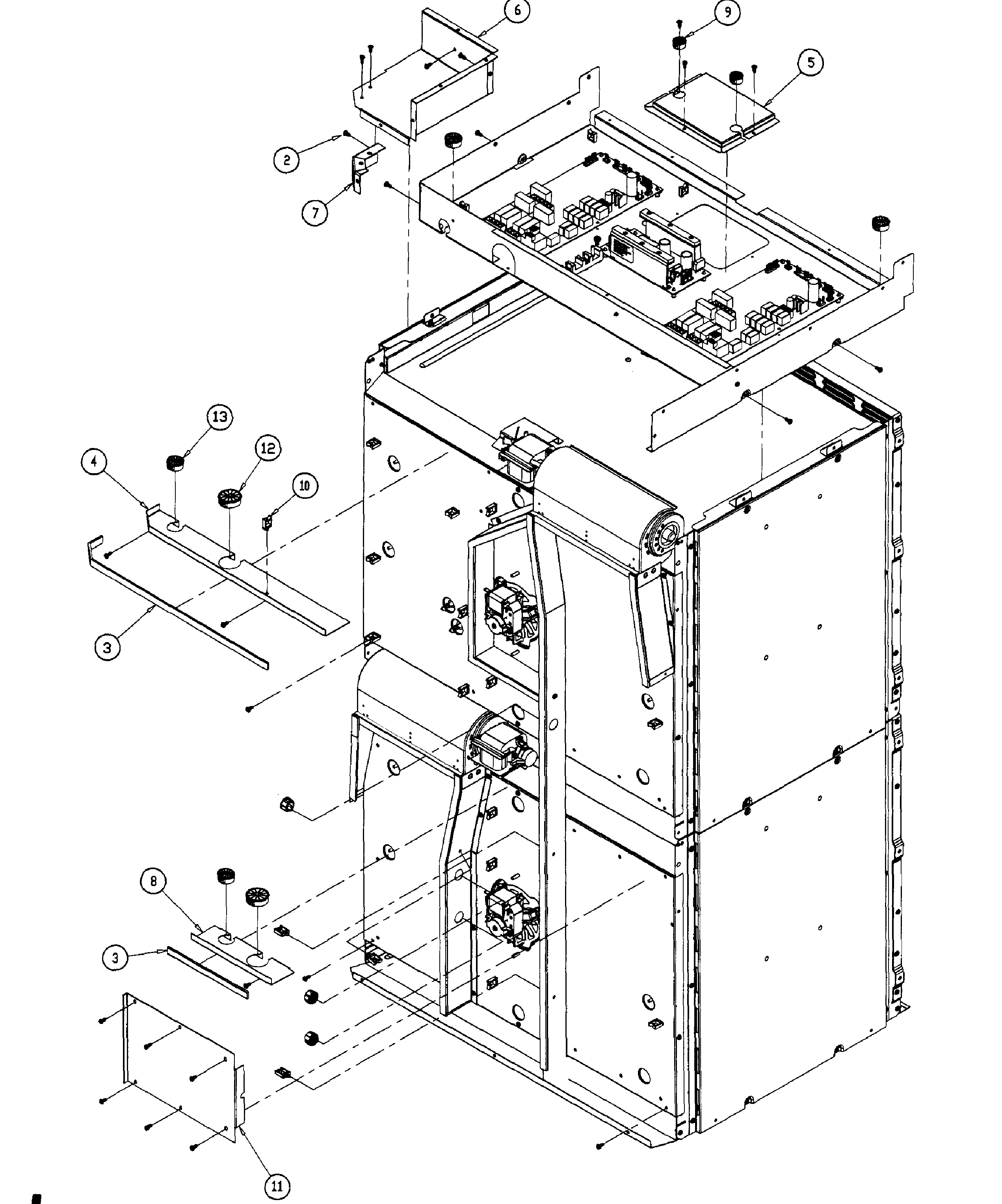 Dacor PO130AG double chassis diagram