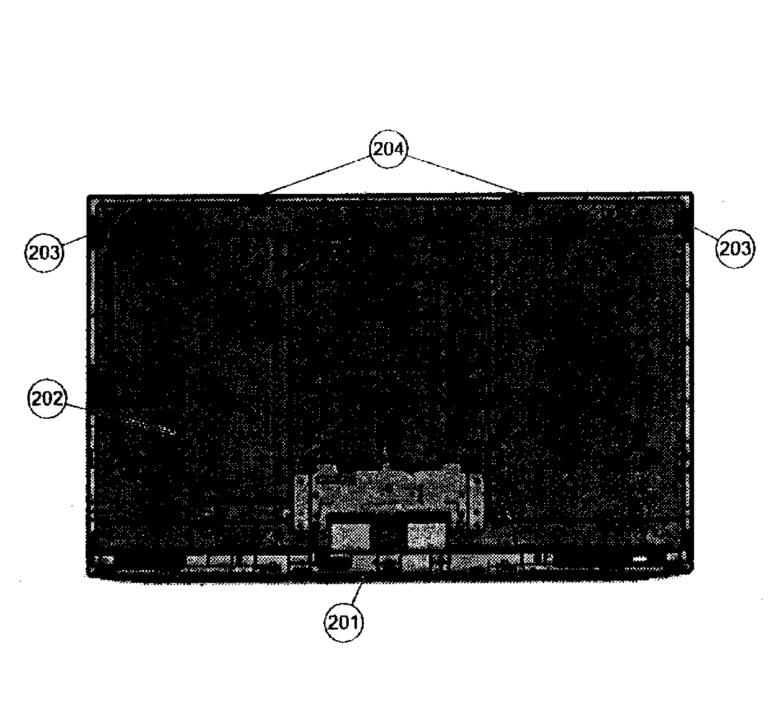 Sony KDL-32EX523 front cabinet diagram