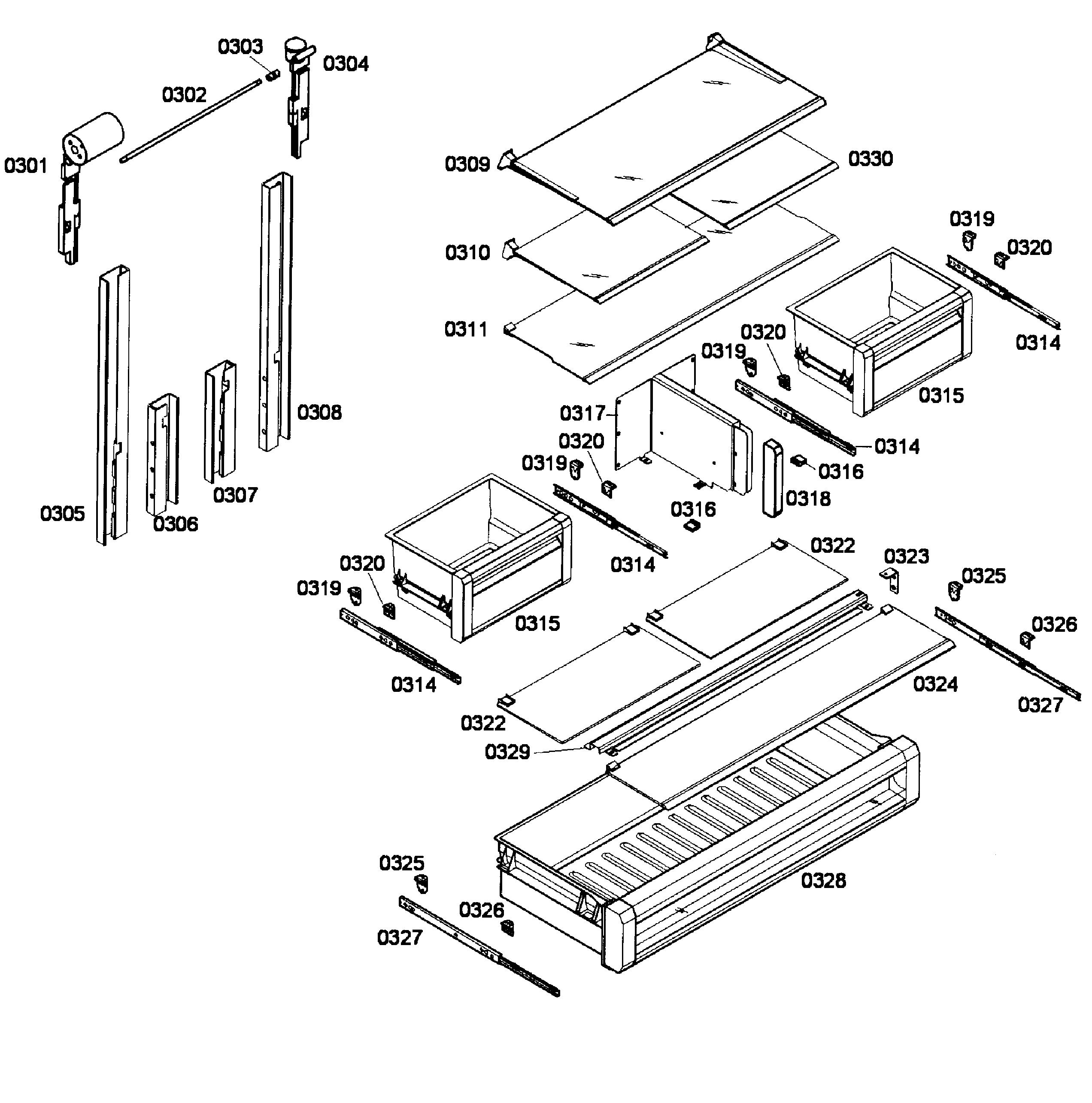 Thermador  Refrigerator   Parts