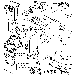 Samsung DV2C6BEW/XAA-00 main assy diagram