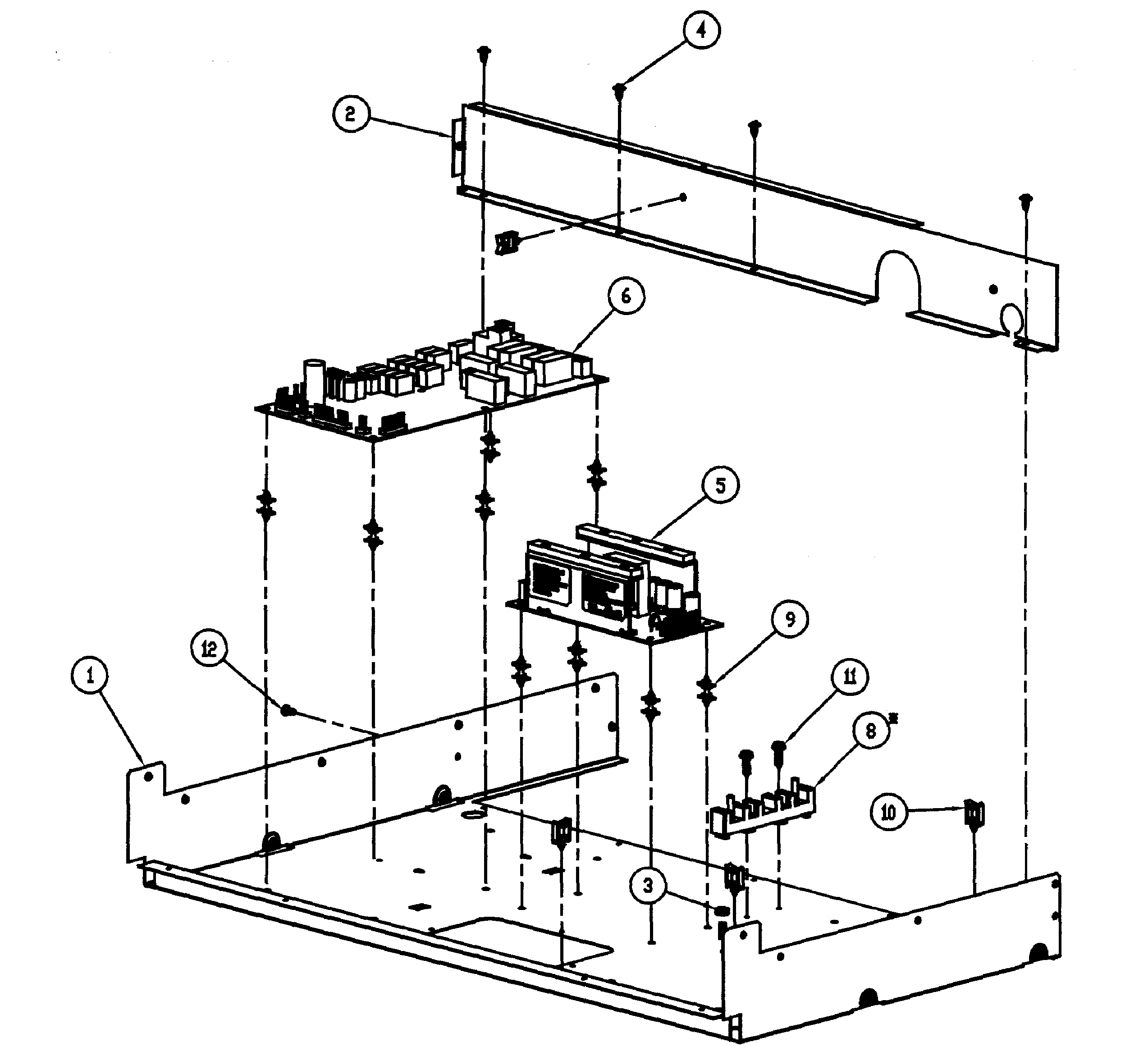 Dacor PO227GN chassis assy diagram