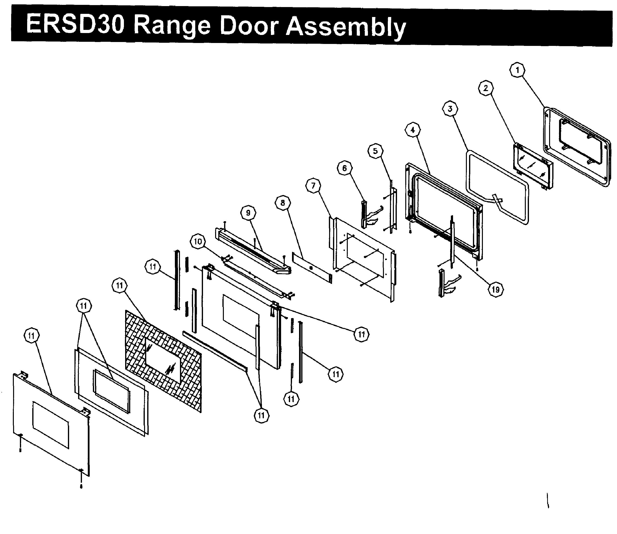 Dacor  Range  Door assy
