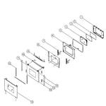 Dacor ERSD36LP door assy diagram
