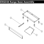 Dacor ERSD48NGH range base diagram