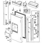 Samsung RF267ABRS/XAA-00 left door diagram