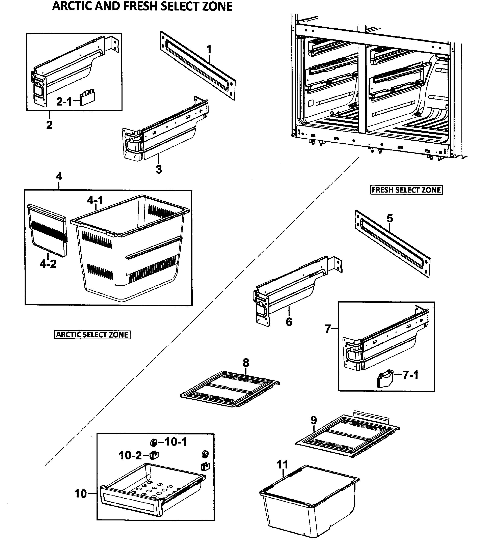 Samsung  Refrigerator  Baskets assy