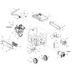 Generac GP7500E-5943-2 frame assy diagram