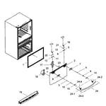 Samsung RF31FMEDBWW/AA-00 freezer door diagram