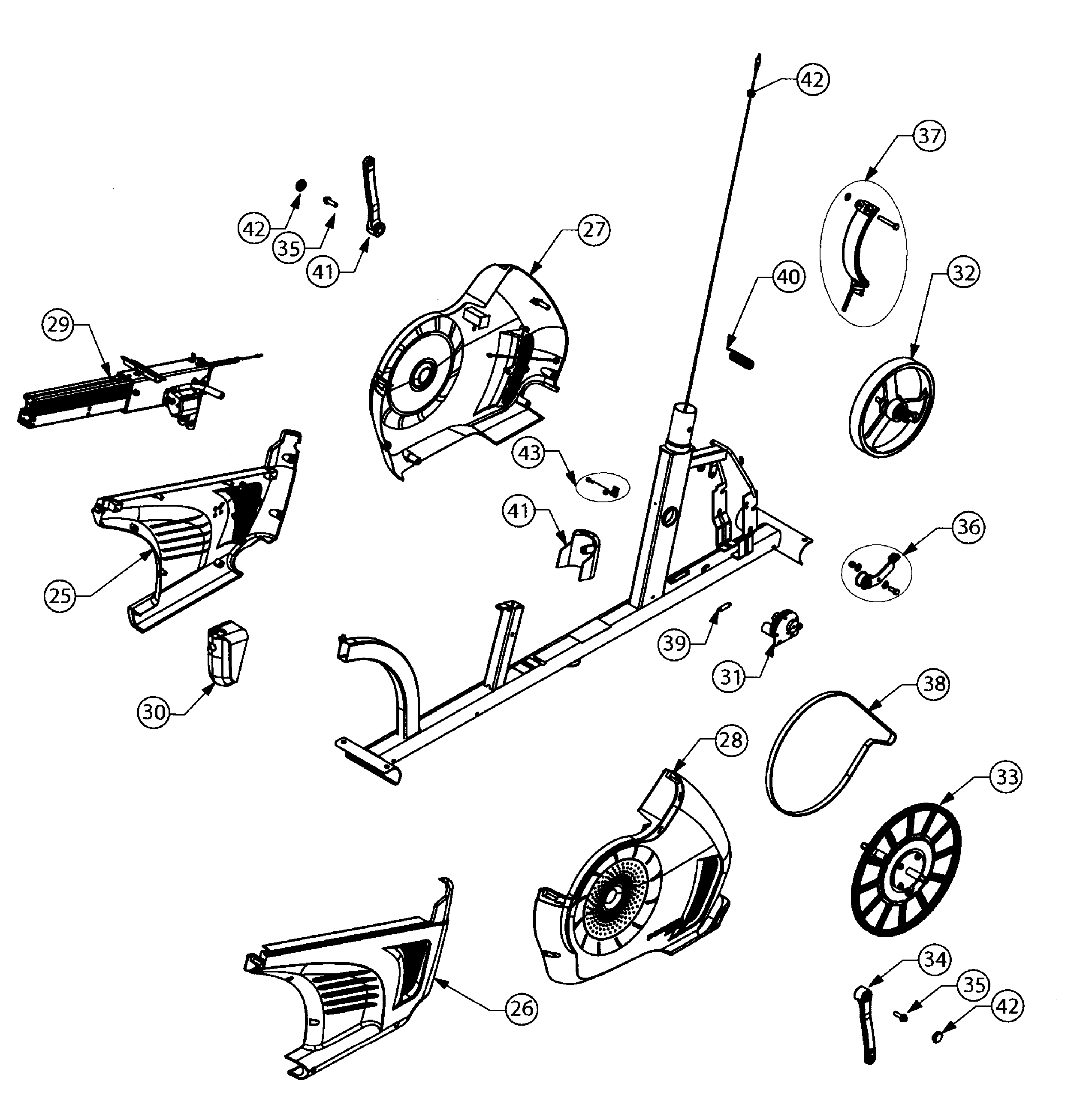 Schwinn 100338 wheel assy diagram