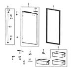 Samsung RF4287HARS/XAA-00 refrigerator door r diagram