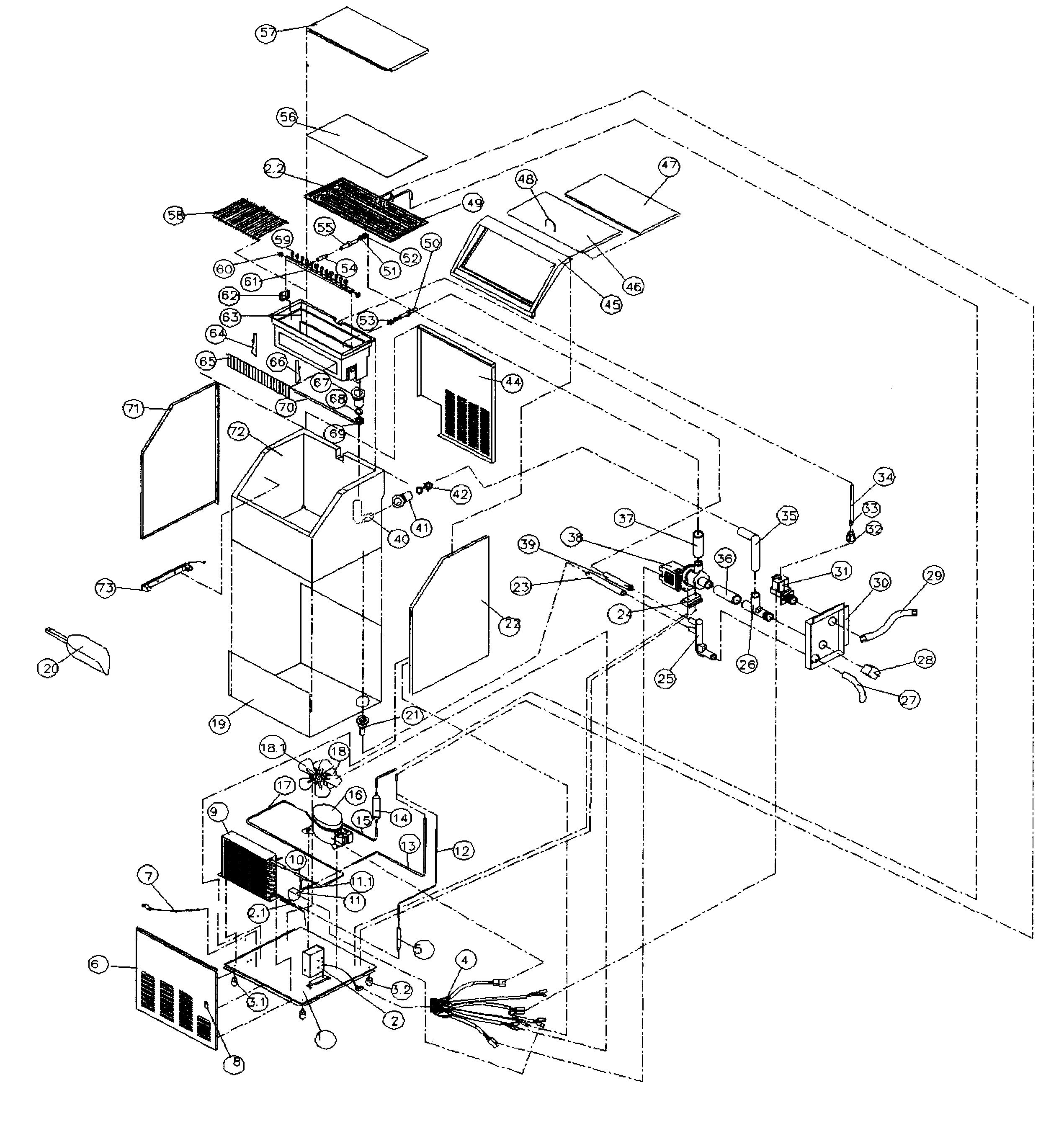 edgestar model ib650ss freestanding icemaker genuine parts rh searspartsdirect com