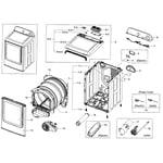 Samsung DV48H7400EW/A2-00 main assy diagram